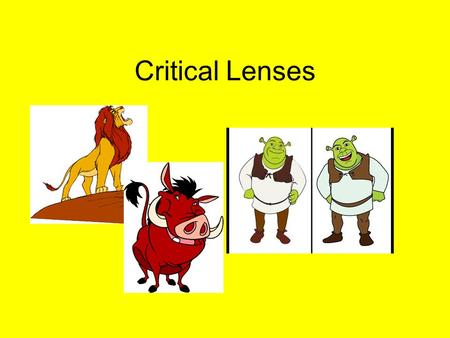 Critical Lenses. ENDURING UNDERSTANDING: The structure of a text affects the meaning. Authors make specific decisions in their writing, based on audience,