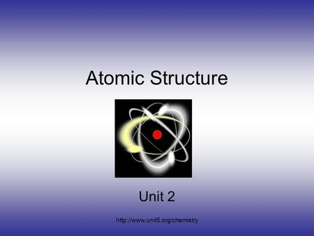 <strong>Atomic</strong> <strong>Structure</strong> Unit 2.
