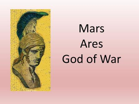 Mars Ares God of War.
