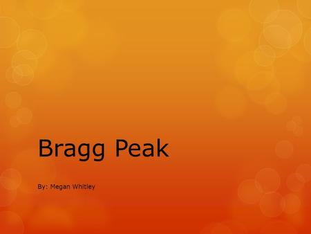 Bragg Peak By: Megan Whitley. Bragg Peak  Bragg Peak is the characteristic exhibited by protons that makes them SO appealing for cancer treatment. 