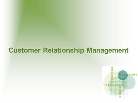Customer Relationship Management. Content CRM SugarCRM System Requirement Installation Process Configuration.