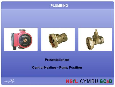 PLUMBING Presentation on Central Heating – Pump Position.