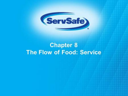 Chapter 8 The Flow of Food: Service. When holding TCS food: Hold it at the right temperature Hot food: 135°(57°C) or higher Cold food: 41°F(5°C) or lower.