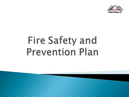 Fire Safety and Prevention Plan