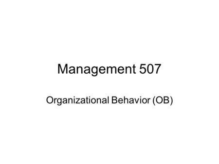 Management 507 Organizational Behavior (OB). Mini-Case on teams Tom is leading a sales project team on developing new clients. The group consists of 3.
