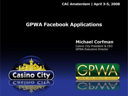 GPWA Facebook Applications Social networking is the wave of the future ─ as important to affiliate marketing tomorrow as search engines are today. The.