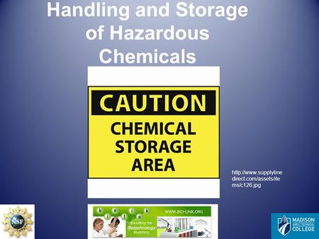 Handling and Storage of Hazardous Chemicals  direct.com/assets/ite ms/c126.jpg.