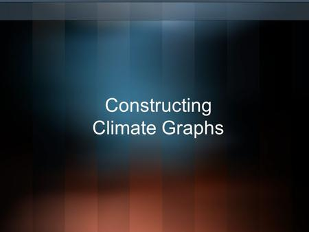 Constructing Climate Graphs