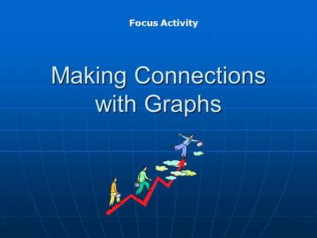 Making Connections with Graphs Focus Activity. Directions: Look at each graph Look at each graph Create a situation in which the value of one variable.