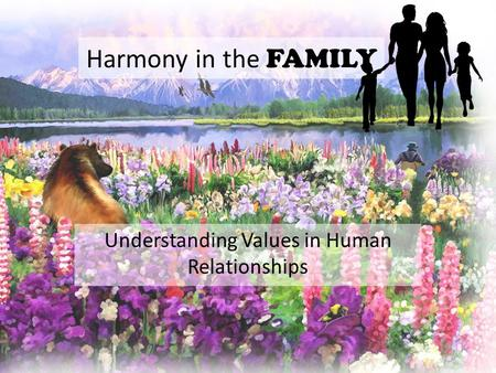 Understanding Values in Human Relationships