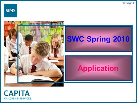 SWC Spring 2010 Application Version 1.0 1. SWC Spring 2010 Select Folder 2.