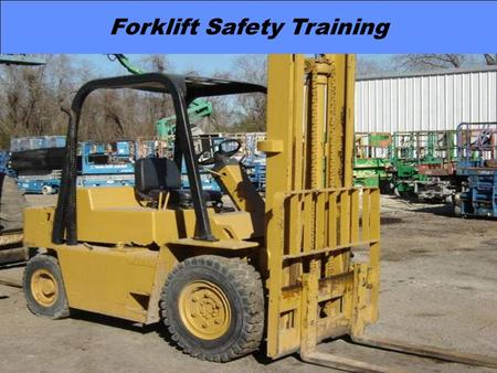 Forklift Safety Training Page 1 Forklift Safety Training By: Greg S. Jarrett & Jimmy R. McCraney.