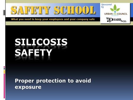 Proper protection to avoid exposure. Objective To build knowledge on silicosis by defining it, explaining the dangers associated with it, and identifying.