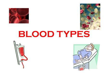 BLOOD TYPES. Blood type is based on the presence of 2 major antigens in RBC membranes-- A and B Whatever antigen you have present is your blood type Blood.