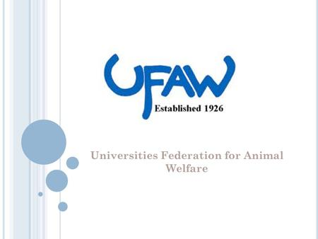 Universities Federation for Animal Welfare. W HAT IS UFAW? The Universities Federation for Animal Welfare (UFAW) is an independent registered charity.