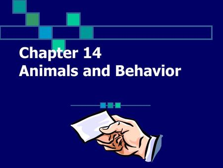 Chapter 14 Animals and Behavior An animal with a skull and a backbone; examples include mammals, birds, reptiles, amphibians, and fish Click for Term.