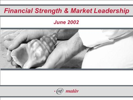1 Financial Strength & Market Leadership June 2002.