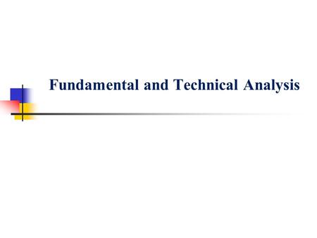 literature review on technical analysis