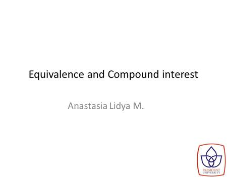 Equivalence and Compound interest