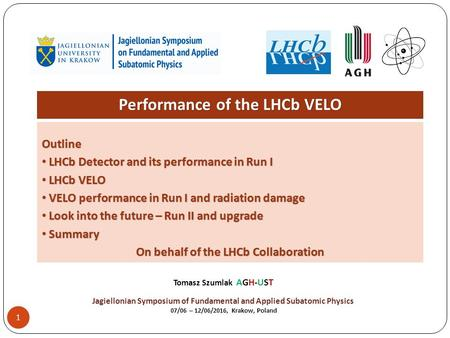 1 Performance of the LHCb VELO Outline LHCb Detector and its performance in Run I LHCb Detector and its performance in Run I LHCb VELO LHCb VELO VELO performance.