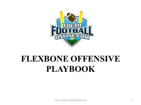FLEXBONE OFFENSIVE PLAYBOOK www.YouthFootballOnline.com1.