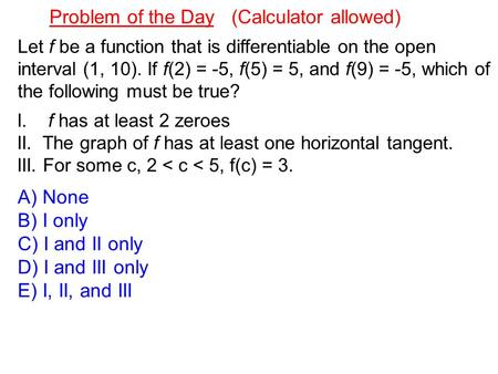 Problem of the Day (Calculator allowed)
