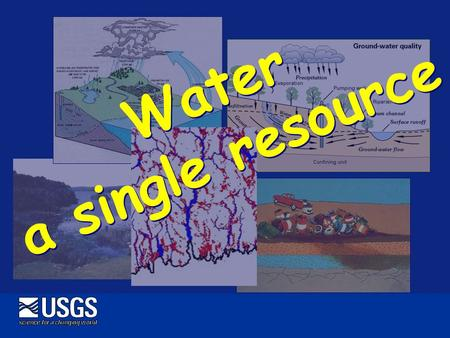 Water a single resource. Watershed Area that contributes water to a particular point on a stream or other surface-water feature, such as a lake Based.