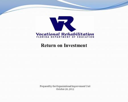Return on Investment Prepared by the Organizational Improvement Unit October 26, 2012.