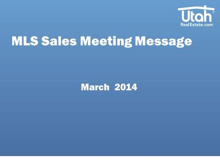 MLS Sales Meeting Message March 2014. New Developments Client History Report: This new report offers changed information about listings. Including, listing.