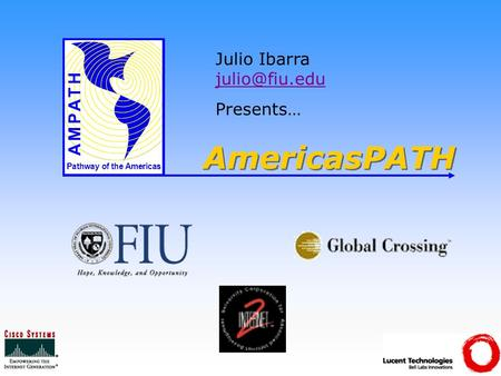 AmericasPATH Pathway of the Americas Julio Ibarra  Presents…