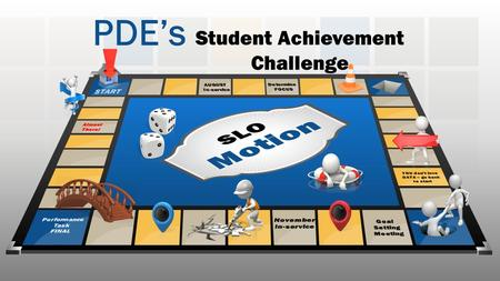 PDE's Student Achievement Challenge. We don't want you to feel like this….