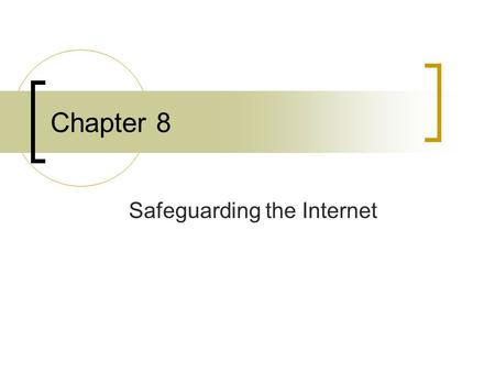 Chapter 8 Safeguarding the Internet. Firewalls Firewalls: hardware & software that are built using routers, servers and other software A point between.