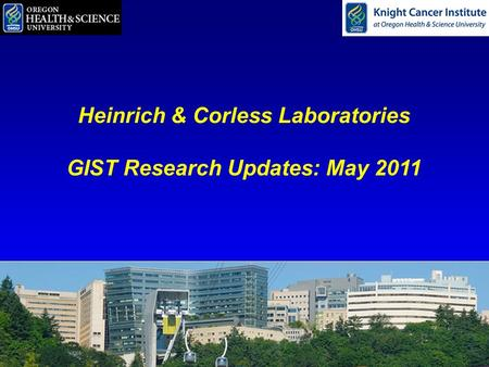 Heinrich & Corless Laboratories GIST Research Updates: May 2011.