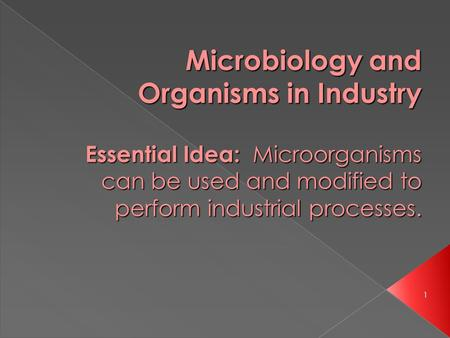 Microbiology and Organisms in Industry