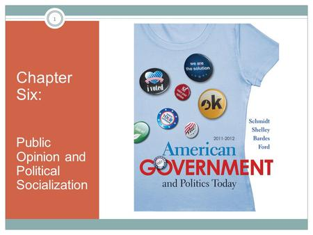 Chapter Six: Public Opinion and Political Socialization 1.