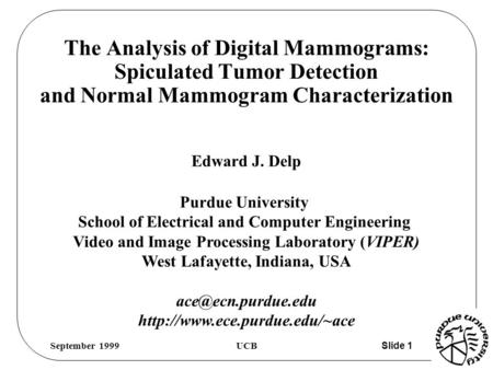 Dissertation On Mammograms