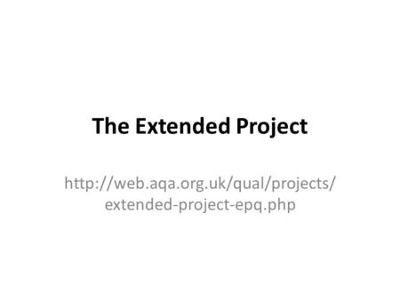 The Extended Project  extended-project-epq.php.