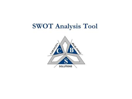 SWOT Analysis Tool. 2 Understanding The Business Environment: SWOT Analysis Internal/Organizational Strengths Weaknesses External/Market Opportunities.