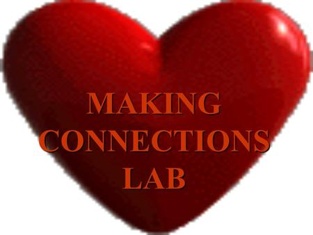 MAKING CONNECTIONS LAB SACCONE POWERPOINT Pulse rate per minute (range of averages <5151-6061-7071-8081-90>90 Number of students in this range Per 1.