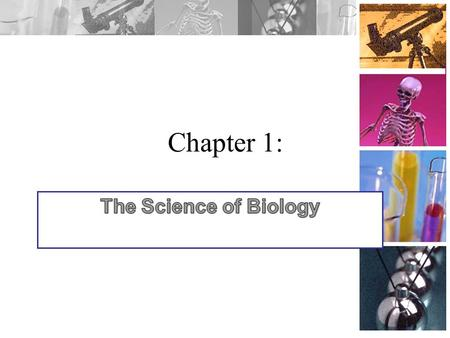 Chapter 1: A. Science is: 1. Investigating and understanding the natural world 2. Explaining events in the natural world 3. Using explanations to make.