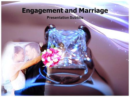 Engagement and Marriage Presentation Subtitle. Purpose of Engagement Signifies commitment to marriage and helps define the relationship Planning the wedding.