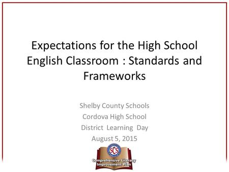 Shelby County Schools Cordova High School District  Learning  Day