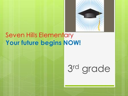 Seven Hills Elementary Your future begins NOW! 3 rd grade.