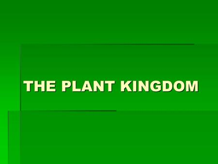 THE PLANT KINGDOM. All Plants Evolved from Common Ancestor: Ancient Green Algae  Cell walls made of cellulose  Store excess carbohydrates as starch.