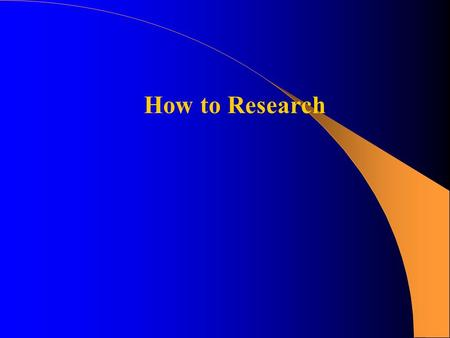 How to Research. Research Paper Assignment Identify what the assignment requires:  topic possibilities  number of sources  type of sources (journal,