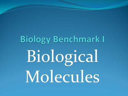 Biological Molecules. Control Groups Are used to compare your results to the experimental group.