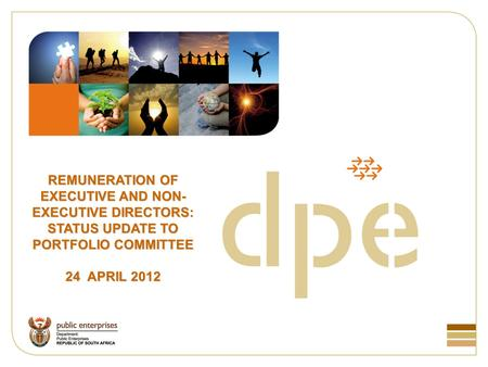 REMUNERATION OF EXECUTIVE AND NON- EXECUTIVE DIRECTORS: STATUS UPDATE TO PORTFOLIO COMMITTEE 24 APRIL 2012.