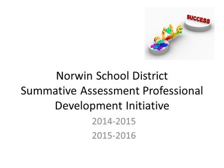 Norwin School District Summative Assessment Professional Development Initiative 2014-2015 2015-2016.