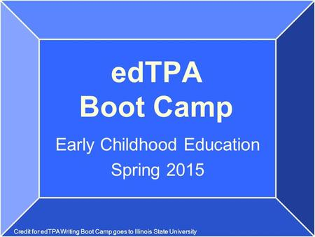 Early Childhood Education Spring 2015