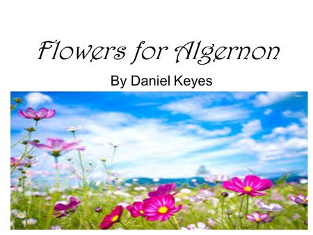 Flowers for Algernon By Daniel Keyes. Build Background Rorschach Test: A psychological test for revealing the underlying personality structure of an individual.